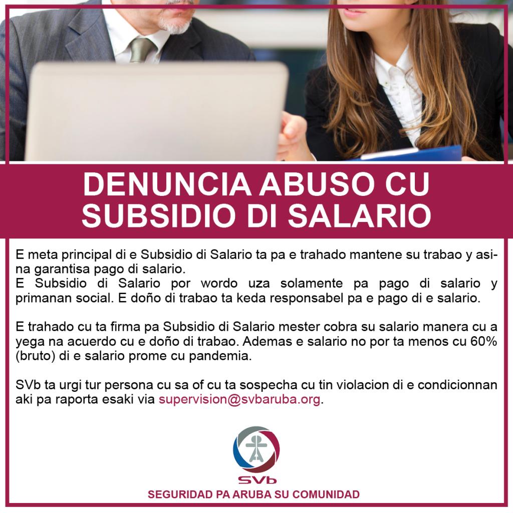 Denuncia Abuso Subsidio di Salario